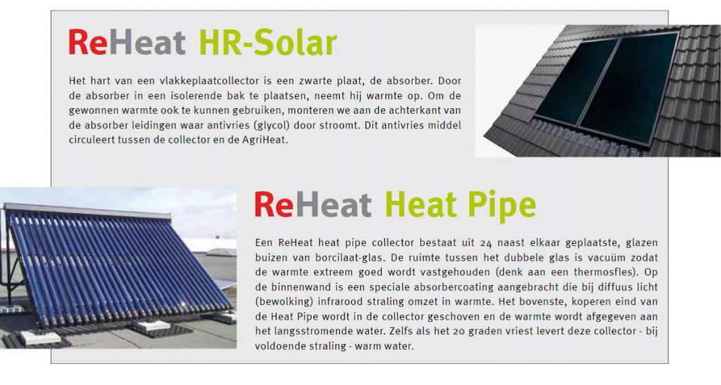 reheat zonnecollector